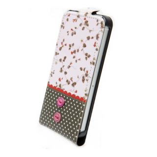 【iPhone SE/5s/5ケース】iPhone5 Fabric Country ストラップ付 ピンク_1