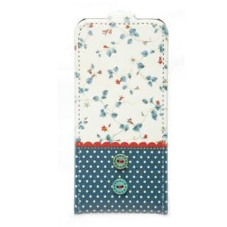 iPhone5 Fabric Country ストラップ付 ネイビー