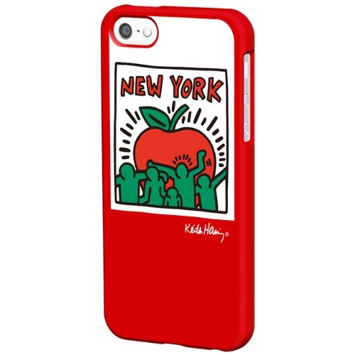 iPhone SE/5s/5 ケース Keith Haring Collection Bezel iPhone SE/5s/5 Big Apple/Red_0