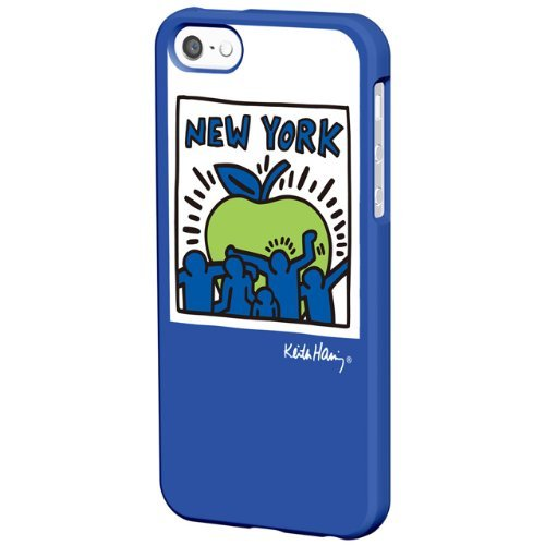 iPhone SE/5s/5 ケース Keith Haring Collection BezeliPhone SE/5s/5 Big Apple/Blue_0
