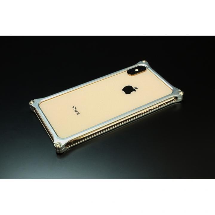 【iPhone XS Maxケース】ギルドデザイン ソリッドバンパー  シルバー iPhone XS Max【12月下旬】_0