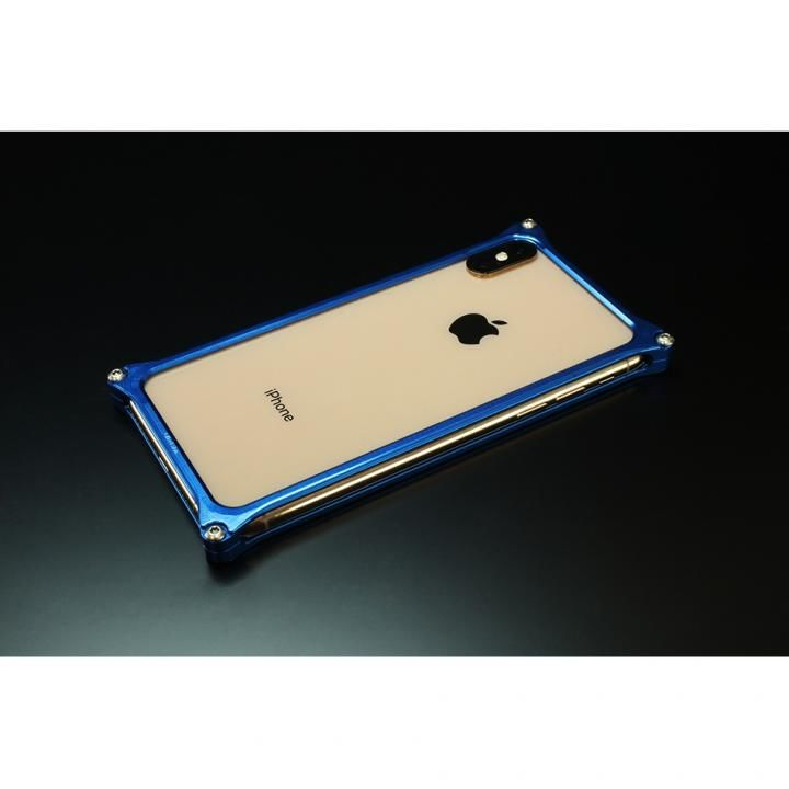 iPhone XS Max ケース ギルドデザイン ソリッドバンパー  ブルー iPhone XS Max_0