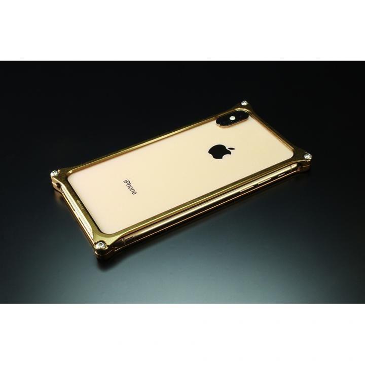 【iPhone XS Maxケース】ギルドデザイン ソリッドバンパー  シグネイチャーゴールド iPhone XS Max【12月上旬】_0