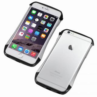 CLEAVE アルミ&カーボンファイバー ハイブリッドバンパー シルバー iPhone 6s/6