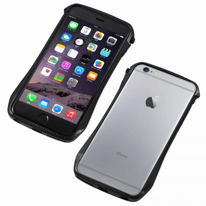 iPhone6s/6 ケース CLEAVE アルミ&カーボンファイバー ハイブリッドバンパー ブラック iPhone 6s/6_0