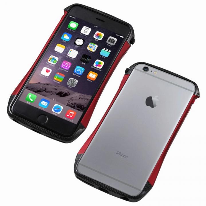 【iPhone6s/6ケース】CLEAVE アルミ&カーボンファイバー ハイブリッドバンパー レッド iPhone 6s/6_0