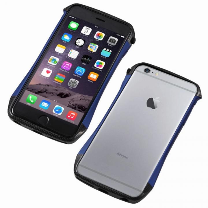 【iPhone6s/6ケース】CLEAVE アルミ&カーボンファイバー ハイブリッドバンパー ブルー iPhone 6s/6_0