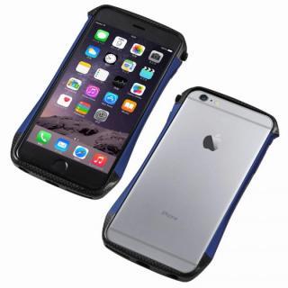 CLEAVE アルミ&カーボンファイバー ハイブリッドバンパー ブルー iPhone 6s/6
