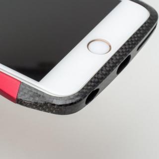 【iPhone6s/6ケース】CLEAVE アルミ&カーボンファイバー ハイブリッドバンパー ブルー iPhone 6s/6_3