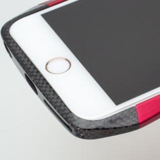 【iPhone6s/6ケース】CLEAVE アルミ&カーボンファイバー ハイブリッドバンパー ブルー iPhone 6s/6_4