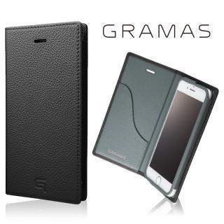 GRAMAS シュランケンカーフ 手帳型レザーケース ブラック iPhone 8/7