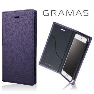 GRAMAS シュランケンカーフ 手帳型レザーケース パープル iPhone 7