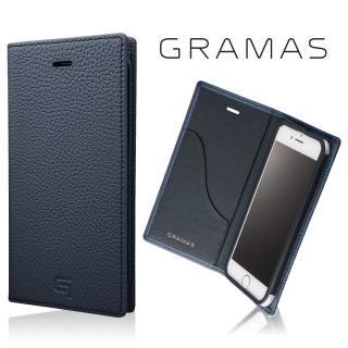 GRAMAS シュランケンカーフ 手帳型レザーケース ネイビー iPhone 7