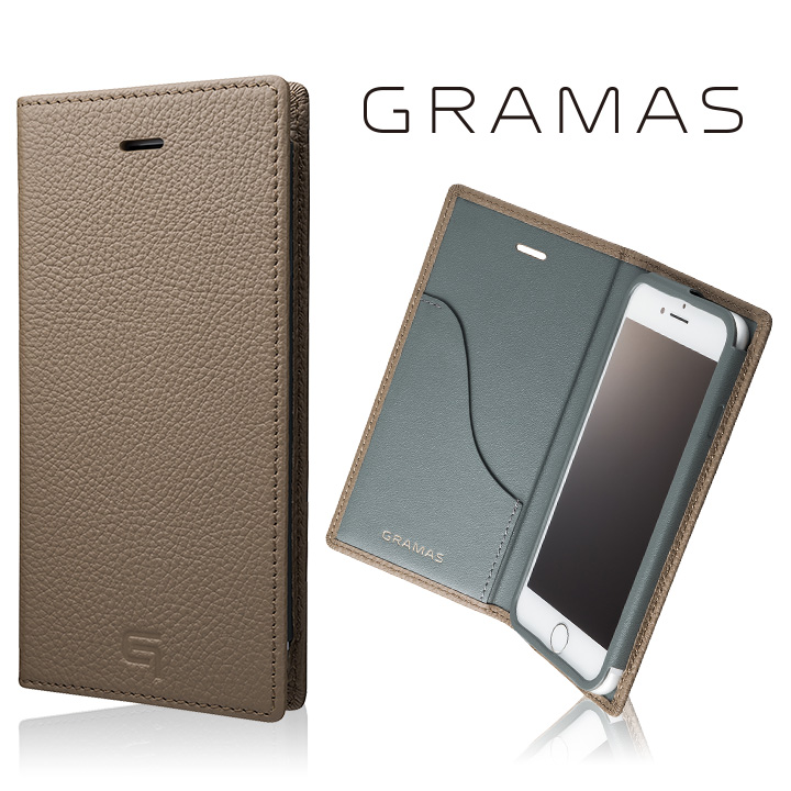 iPhone8/7 ケース GRAMAS シュランケンカーフ 手帳型レザーケース トープ iPhone 8/7_0