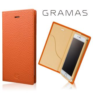 GRAMAS シュランケンカーフ 手帳型レザーケース オレンジ iPhone 8/7