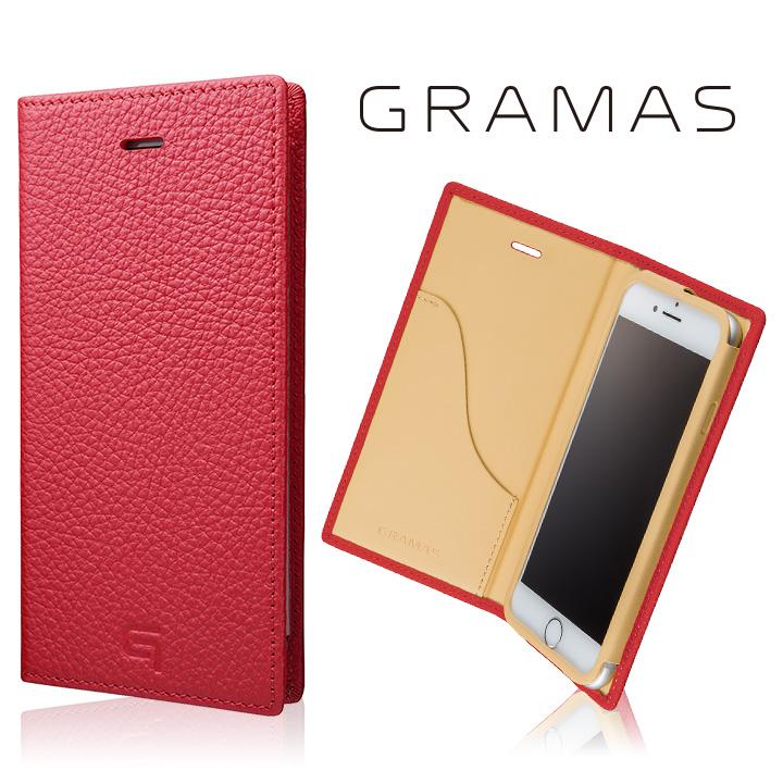 GRAMAS シュランケンカーフ 手帳型レザーケース ピンク