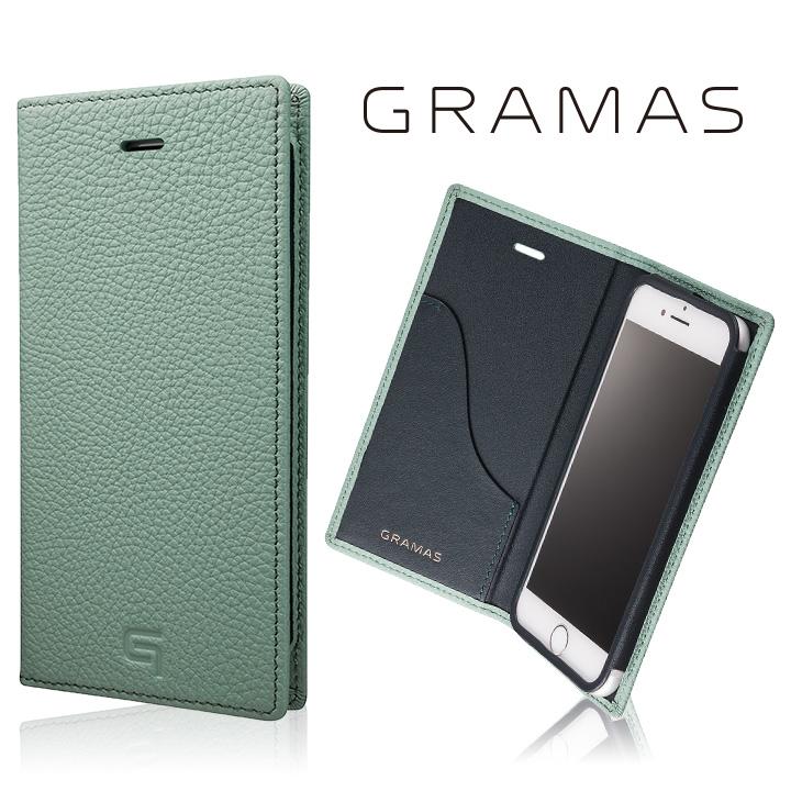 iPhone8/7 ケース GRAMAS シュランケンカーフ 手帳型レザーケース ブルー iPhone 8/7_0