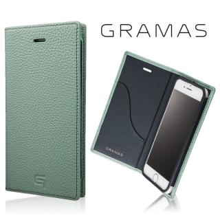 GRAMAS シュランケンカーフ 手帳型レザーケース ブルー iPhone 8/7
