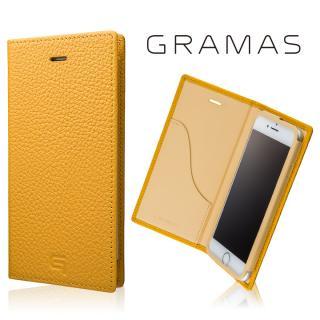 GRAMAS シュランケンカーフ 手帳型レザーケース イエロー iPhone 7