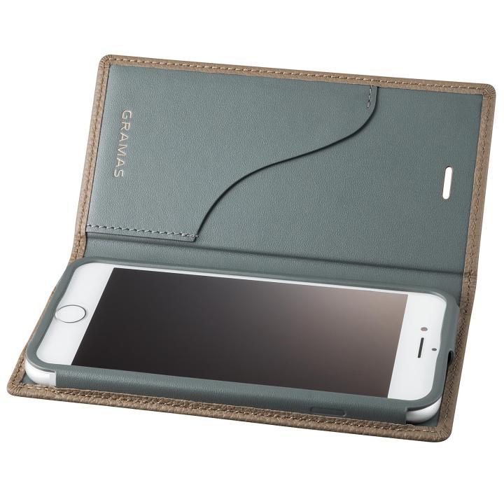iPhone8 Plus/7 Plus ケース GRAMAS シュランケンカーフ 手帳型レザーケース トープ iPhone 8 Plus/7 Plus_0