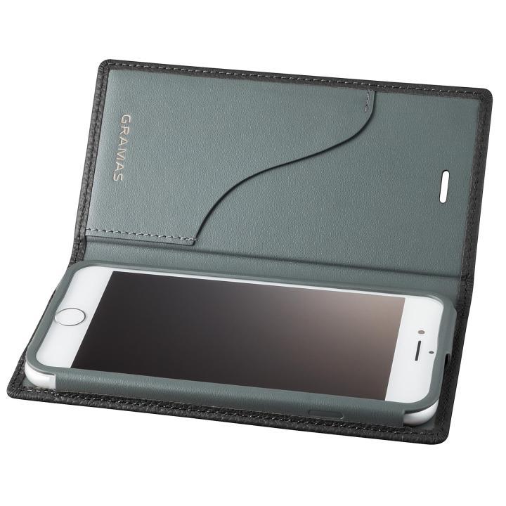 【iPhone8 Plus/7 Plusケース】GRAMAS シュランケンカーフ 手帳型レザーケース ブラック iPhone 8 Plus/7 Plus_0