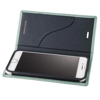 GRAMAS シュランケンカーフ 手帳型レザーケース ブルー iPhone 8 Plus/7 Plus