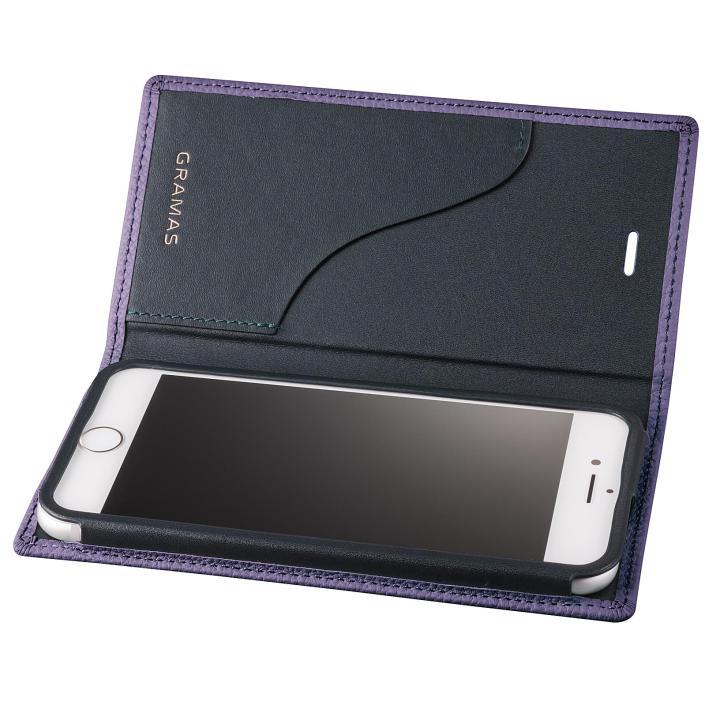 iPhone8 Plus/7 Plus ケース GRAMAS シュランケンカーフ 手帳型レザーケース パープル iPhone 8 Plus/7 Plus_0