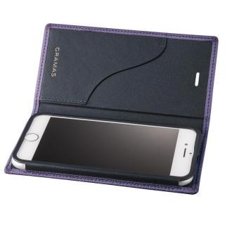 GRAMAS シュランケンカーフ 手帳型レザーケース パープル iPhone 8 Plus/7 Plus
