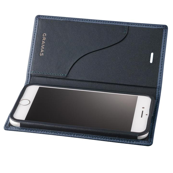iPhone8 Plus/7 Plus ケース GRAMAS シュランケンカーフ 手帳型レザーケース ネイビー iPhone 8 Plus/7 Plus_0
