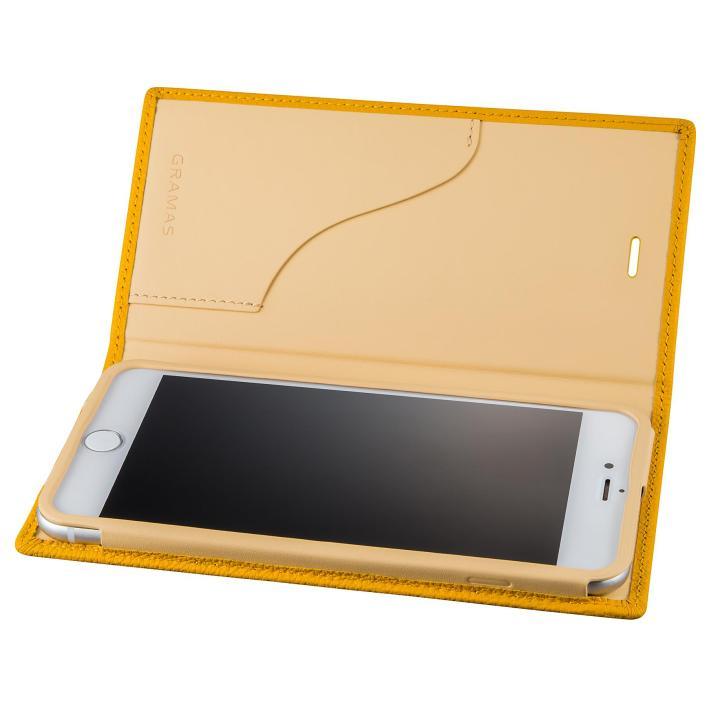 iPhone8 Plus/7 Plus ケース GRAMAS シュランケンカーフ 手帳型レザーケース イエロー iPhone 8 Plus/7 Plus_0