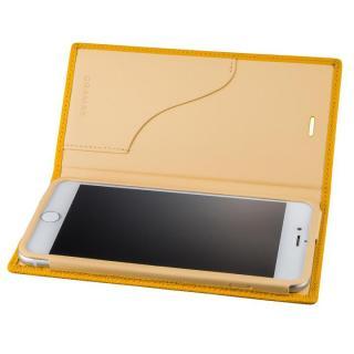 【iPhone8 Plus/7 Plusケース】GRAMAS シュランケンカーフ 手帳型レザーケース イエロー iPhone 8 Plus/7 Plus