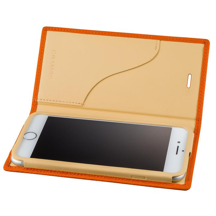 GRAMAS シュランケンカーフ 手帳型レザーケース オレンジ