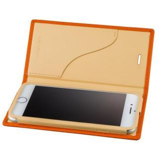 iPhone8 Plus/7 Plus ケース GRAMAS シュランケンカーフ 手帳型レザーケース オレンジ iPhone 8 Plus/7 Plus