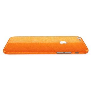 【iPhone6ケース】ラメ入り プレミアムスキンシール グリッターオレンジ iPhone 6 スキンシール_1