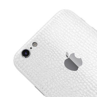 【iPhone6ケース】レザー調 プレミアムスキンシール アリゲーターホワイト iPhone 6 スキンシール_3