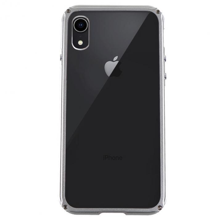 iPhone XR ケース アルミバンパー Razor Fit シルバー iPhone XR_0
