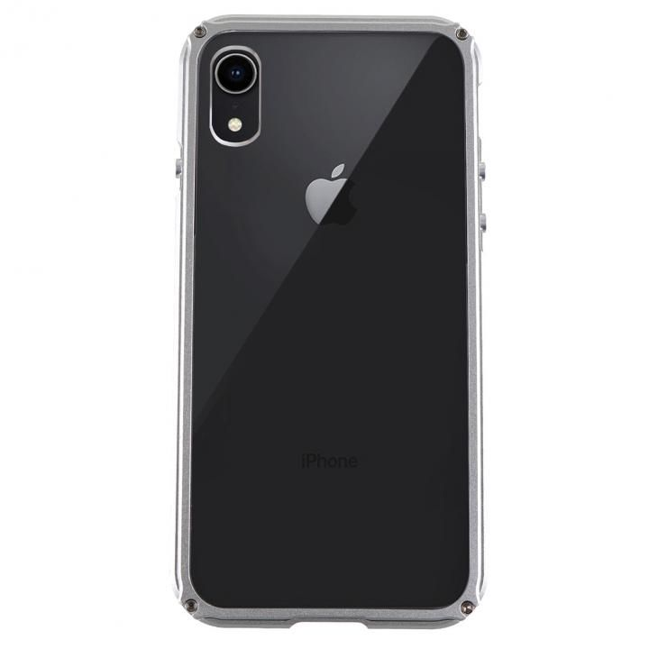 【iPhone XRケース】アルミバンパー Razor Fit シルバー iPhone XR_0