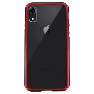 【iPhone XRケース】アルミバンパー Razor Fit ブラックレッド iPhone XR