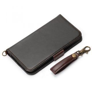 Premium Style 手帳型ケース PUレザーダメージ加工 ブラック iPhone X
