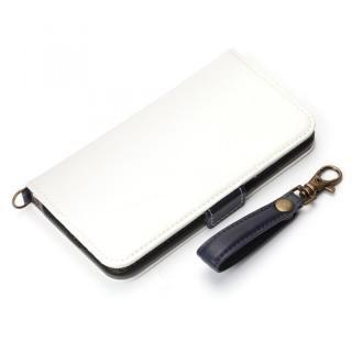 Premium Style 手帳型ケース PUレザーダメージ加工 ホワイト iPhone X