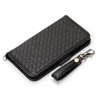 Premium Style 手帳型ケース PUレザー メッシュ調  iPhone XS/X