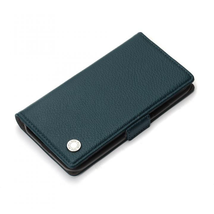 iPhone XS/X ケース Premium Style 手帳型ケース エンボスPUレザー ブルー iPhone XS/X_0