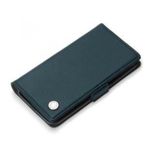 Premium Style 手帳型ケース エンボスPUレザー ブルー iPhone XS/X