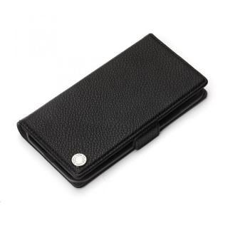 Premium Style 手帳型ケース エンボスPUレザー ブラック iPhone XS/X