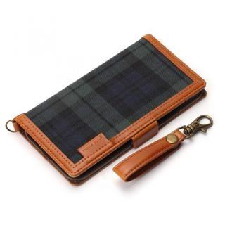 Premium Style 手帳型ケース ファブリック生地  グリーン iPhone X