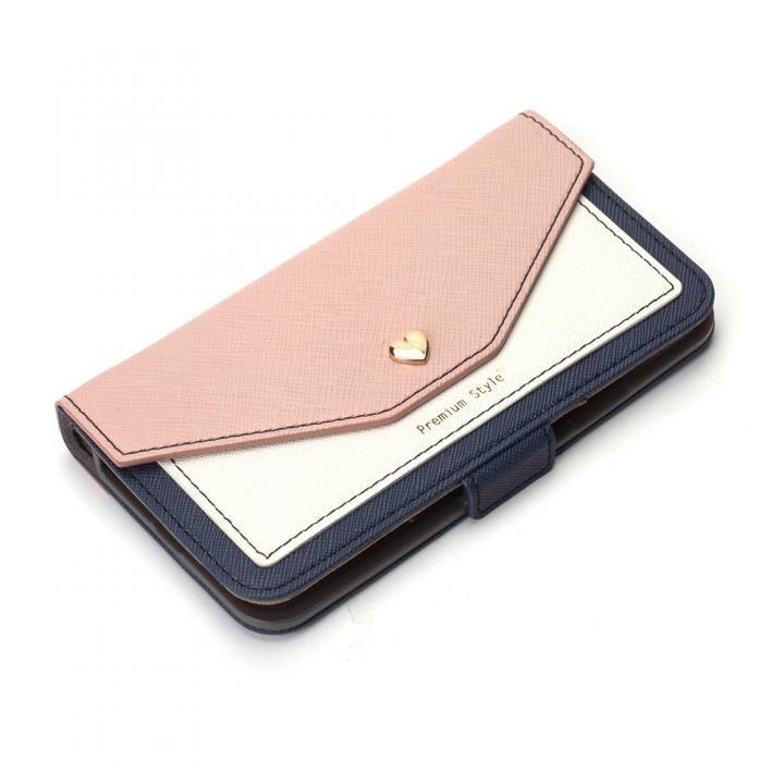 【iPhone XS/Xケース】Premium Style 手帳型ケース スクエア型ポケット ベージュ iPhone XS/X_0