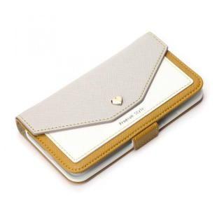 Premium Style 手帳型ケース スクエア型ポケット イエロー iPhone XS/X