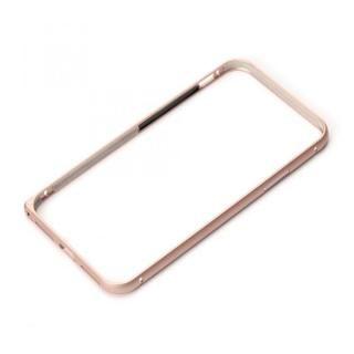 Premium Style アルミバンパー ワンプッシュボタン ローズゴールド iPhone XS/X