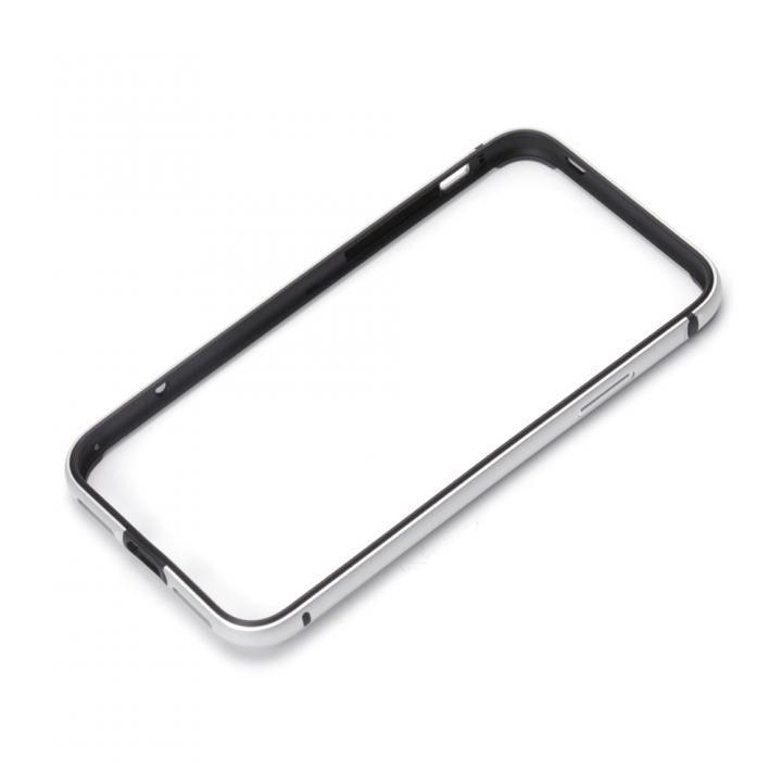 Premium Style アルミ+TPUハイブリットバンパー シルバー iPhone X