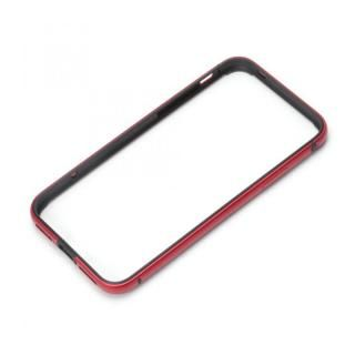 【iPhone XS/Xケース】Premium Style アルミ+TPUハイブリットバンパー レッド iPhone XS/X